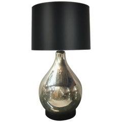 Large Scale Vintage Mercury Glass Table Lamp