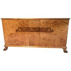 Swedish Art Deco Flame Birch Sideboard
