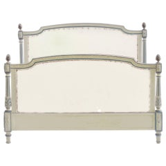 French Bed US Queen UK King Size Early 20th Century Louis XVI Recover Customize