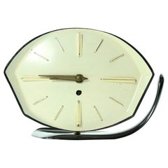 Midcentury Table Clock in Bakelite by PRIM, 1950s
