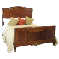 Wide Mahogany Bed - Wk106