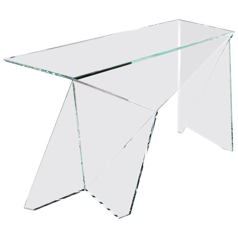 Desk Table Modern Glass Crystal Limited Edition Design