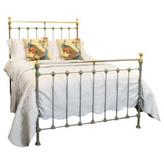 Brass and Cast Iron Bed in Green Verdigris - MD69