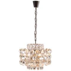Bakalowits Mid-Century Modern Crystal Chandelier Original Woka Lamps, Vienna