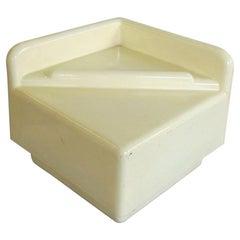 1970 Coffee Table Thermoformed White Plastic, Studio Da, by Sormani, Italy