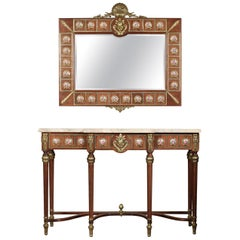 Louis XVI Revival Console Table and Mirror by H & L Epstein