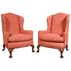 Pair of Georgian Style Wingback Armchairs