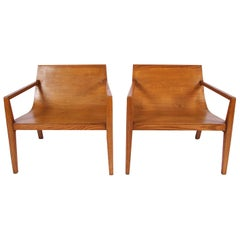 Pair of Modernist Oak Armchairs