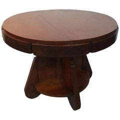 1930s Art Deco Mahogany Coffee Table Marked Deerns