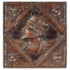 Romayne Male Portrait Oak Panel, English, circa 1540-1560