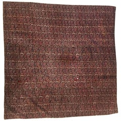 Antique Handwoven Persian Textile Termeh, 19th Century