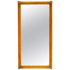 Italian Bamboo Mirror, 1950s