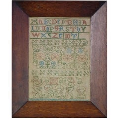 Rare, Small, 17th Century Boxers Sampler