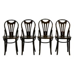 Set of Four Art Nouveau Thonet Style Bentwood Chairs, 1920s