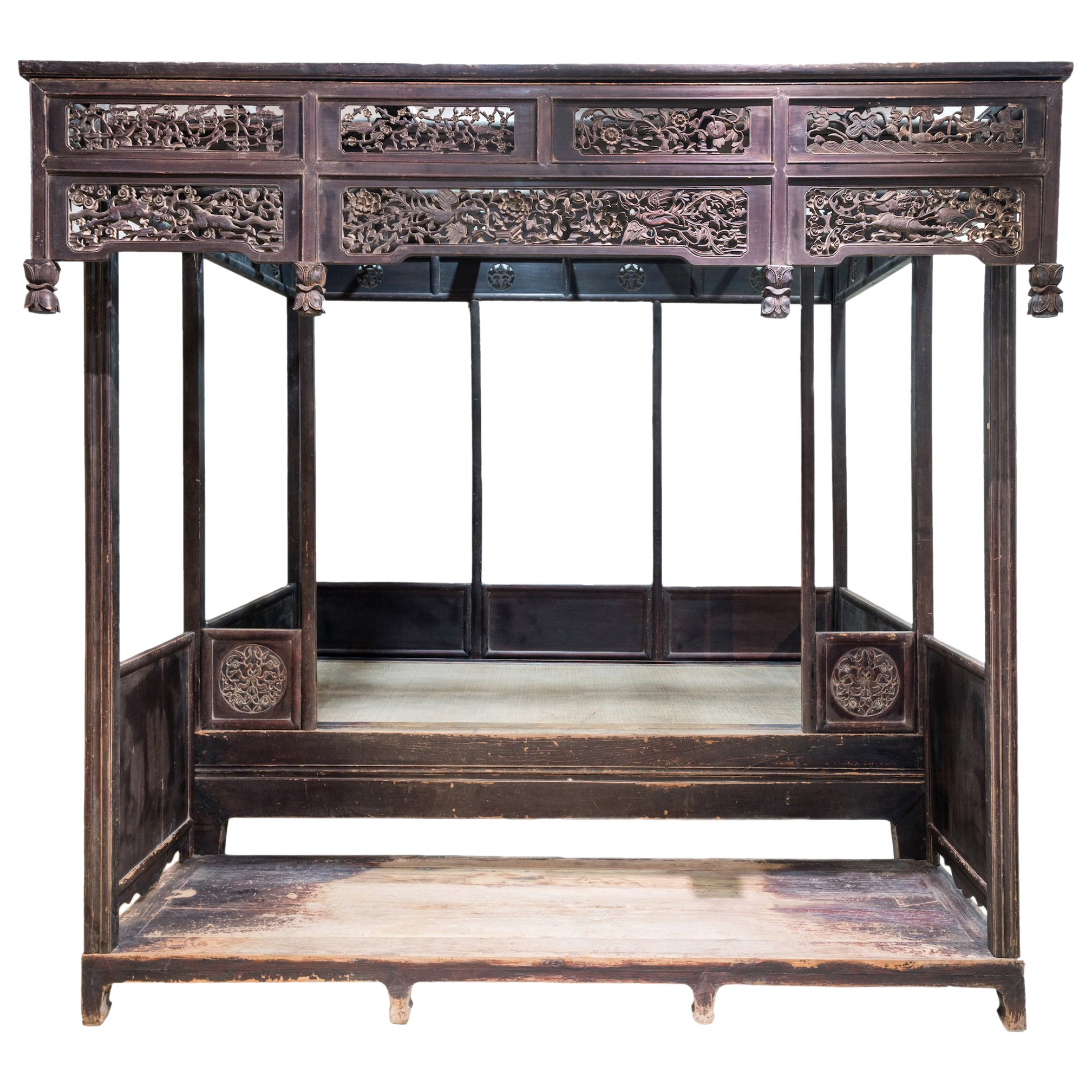 Late 19th Century Canopy Bed from Shanxi, China