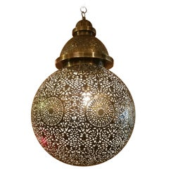 Incredible Moroccan Ceiling Lamp / Lantern, Ball Shape