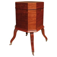 19th Century George III Mahogany Octagonal Cellarette