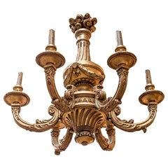 Regence Style Giltwood Chandelier, Napoleon III Period