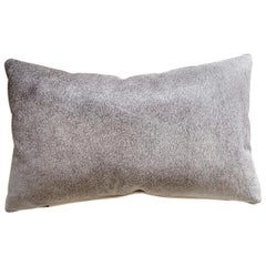 Forsyth Salt and Pepper Grey Brazilian Cowhide Pillow