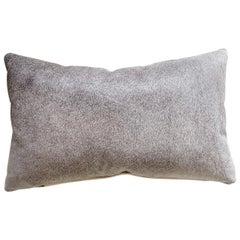 Forsyth Salt and Pepper Grey Brazilian Cowhide Pillow