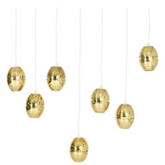 Midcentury Brass Pendant by Hans-Agne Jakobsson