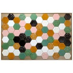Floral Handmade Decorative Tile Panel