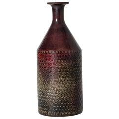 Unique Midcentury Stoneware Vase by Stig Lindberg