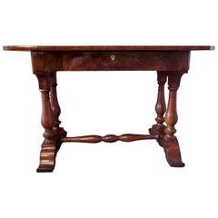Biedermeier Walnut Austrian Writing Desk, 1830