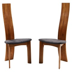 Set of Eight Danish Cherrywood Dining Chairs by Bob og Dries Van Den Bergh