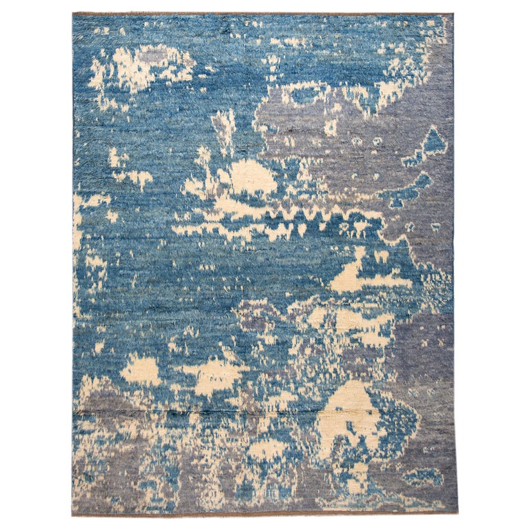 Modern Moroccan-Style Rug For Sale