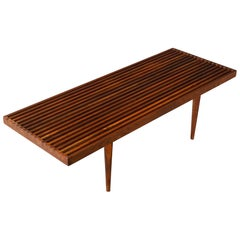 Mel Smilow Slat Walnut Coffee Table