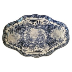 19th Century British Staffordshire Pottery Meat Platter or Game Dish