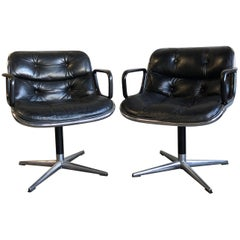 Pair of Early First Generation Pollock Chairs for Knoll