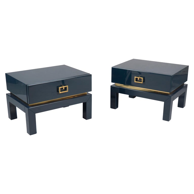 Pair of Low Side Tables by Maison Jansen, France, 1970s For Sale