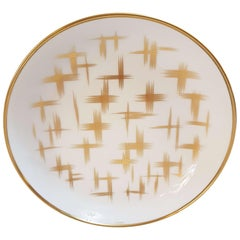 "Hermès Porcelain ""Voyage En Ikat"" Cereal Plate for Two, France"