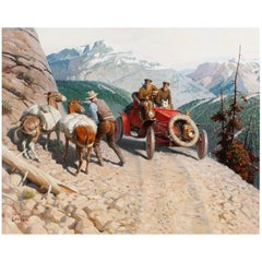 Transcontinental Trail, after American Classical Oil Painting by Tom Lovell