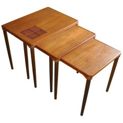 1960s Nest of Danish Teak Tables