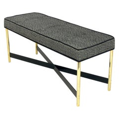Brass X Base Bench by Laverne International