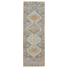 New Turkish Oushak Runner Rug