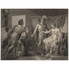 Alexander Ceding Campaspe to Apelles, Neoclassical Drawing after Jerome Langlois