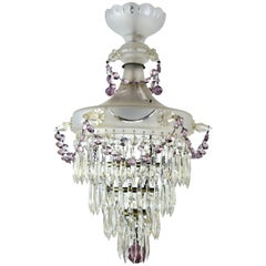 Etched Glass Body Wedding Cake with Purple Crystal Ball Finial