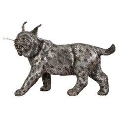 Gianmaria Buccellati, a Rare and Exceptional Italian Silver Bobcat