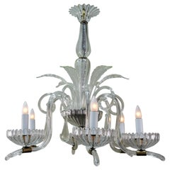Italian Blown Glass Chandelier by Barovier e Toso