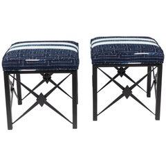 Pair of Vintage Iron Footstools