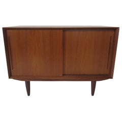 Smaller Danish Teak Credenza in the Manner of Arne Vodder