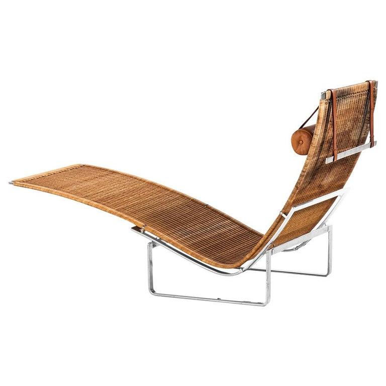 Poul Kjærholm PK-24 Lounge Chair by E. Kold Christensen in Denmark