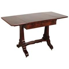 Empire Mahogany Sofa Table Made in New York, 19th Century