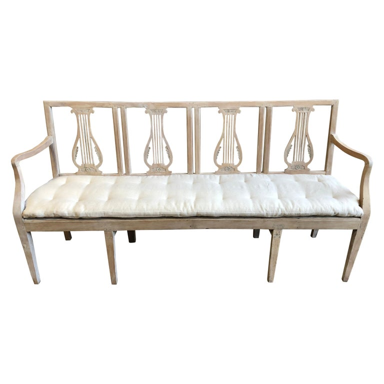 Neoclassic Bench, French, circa 1800 For Sale