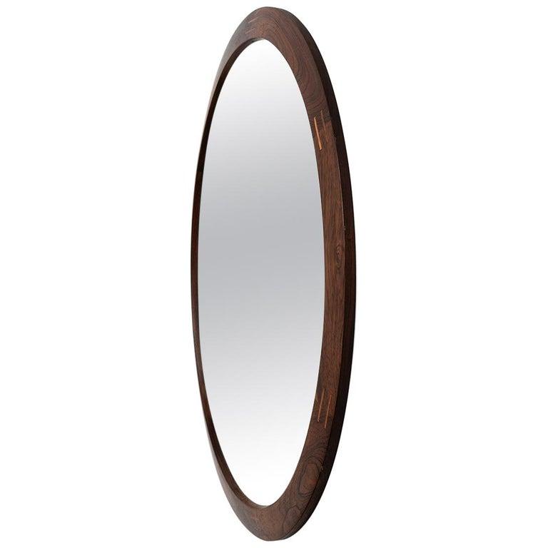 Aksel Kjersgaard Round Mirror in Rosewood by Odder in Denmark
