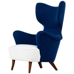 Sculptural and Organic Easy Chair in the Manner of G.A Berg Produced in Sweden